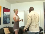 Cougar Phoenix Marie didn't want to let brown man go, blew his apricot and bounced on it