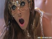 Madison Ivy plays the role of Roman princess and combines dome and nookie in amphitheater