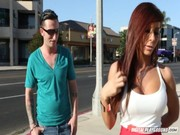 Hot babe Madison Ivy gets acquainted with buddy, comes home with him and enjoys muddy fuck