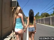 Briella Bounce and her super seXXXy bitch is going nuts, walking along the street & keepin