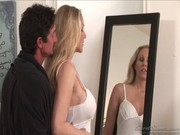 Awesome blond cougar Julia Ann sucked her bf's stallion and spread legs for gash in ways!