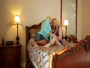 Nice sweetheart Julia Ann is indulging in hot loving with some young blonde who is fucking
