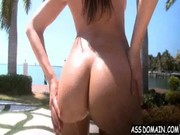 Funny and recreating babes Abella Anderson and Rachel Starr are having rest by the pool)))