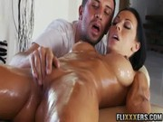 If pouring so much oil upon latina flesh of Rachel Starr during massage, she will go nuts!