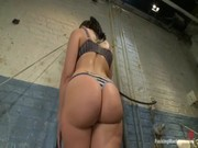 Pretty babe Kelly Divine goes around BDSM-dungeon, dildoing vagina and entertaining now! )