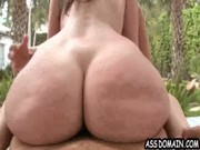 Kelly Divine with fantastic booty is riding high on paratrooper and entertaining with girl