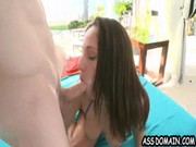 Lovable Jada Stevens combines cock-blowing and being done by it in doggy position. Hooker!