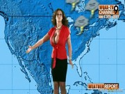 After hosting a weather forecast, salacious juggy mom Eva Notty has sex with her producer