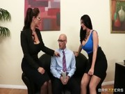 Sophie Dee and Eva Notty are two hot office wives who are ready to service their boss now!