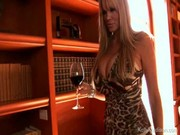 A glass of red wine makes Kelly Madison's partner drunk, & he attacks blonde with his tool