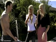 It is warm weather, the sun is shining, & Nikki Benz & one more star are loving gangster))