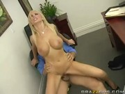 Coming of company CEO to busty office wife Nikki Benz leads to mighty dome & lovely nookie