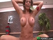 Awesome latina bitch Monique Fuentes is getting in love with dick and balls of sex mister!