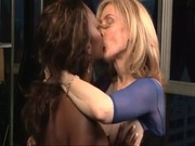 A lovely white MILF Nina Hartley is loving black-skinned bitch Nyomi Banxxx! Holy hookers!