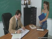 Dissolute Gigi Rivera comes to pass exams, but her teacher Rico nails busty G