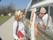 Lexi Belle wanted to acquire some ice-cream, but got a tough dick and balls instead of it)