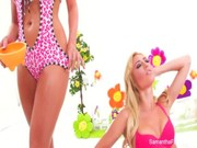 Samantha Saint is feeling passion towards Victoria White and screws her bottomless chocha