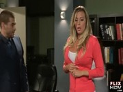 Sex-appeal and lovely Samantha Saint is being attacked by her boss at the working place!