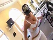 Sienna West and Kelly Madison are taking drills in the gym, while pounding each other!