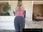 Amazing blond hair MILF Capri Cavanni loves to be clad in stretching tights! Dirty harlot