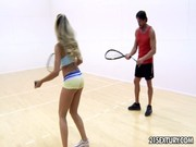 The tennis match with black porn star results in active balling him inside the gym! Bitch