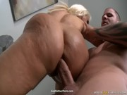 Kelly Divine alongside with Holly Halston are fucking a muscled man with meter-long pencil