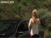 Kayden Kross lays hands upon some car in the desert and screws a man over there! Holly one