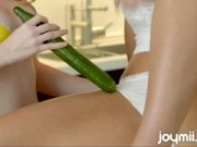 A lustful sweetie and awesome star Faye Reagan is pleasing Lexi wallow with long cucumber