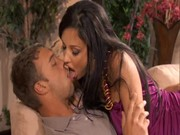 Aletta Ocean is kissing the gentleman of her dream, loving him and giving her all passion
