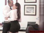 A handsome sexetary Valentina Nappi is practicing hardcore screwing with her office boss