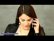 This nasty sex model Valentina Nappi combines, speaking on the phone and fucking in hole!