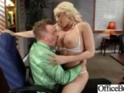 An awesome and physically attractive silvertip Kagney Linn Karter is saddling guy's pistol