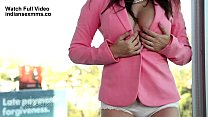 Sunny Leone is pink jackets is all a hub of attention once again, showing her round things