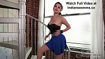 Sunny Leaone in a blue skirt appears to be the hottest mistress in all adult industry!