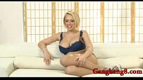 Black misters always prefer Kagney Linn with her huge air balloons and shaved abysmal twat