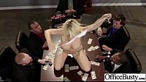 This is all Kagney Linn again, standing upon a wide office table and entertaining all guys