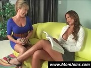 A nice Miss comes to mummy Monique Fuentes with her boyfriend who fucks both porn beauties