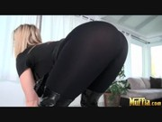 Alexis Texas gets inside the house with other older blonde who watches her nude