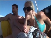 Cool American forty four Alexis Texas makes the fuck with two lovers onboard! ))