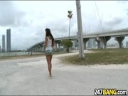 Cool explicit sex babe Lisa Ann is walking along the road and showing her skills