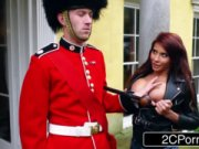 A maiden Aletta Ocean allows beefeater to smash her titties, and the one is crazy about it