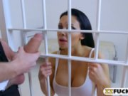 Cool sweetie Aletta Ocean is coming to be the wildest cock sucked behind the bars! Hustler